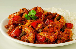Chicken Jalfrezi (jalfarajee)