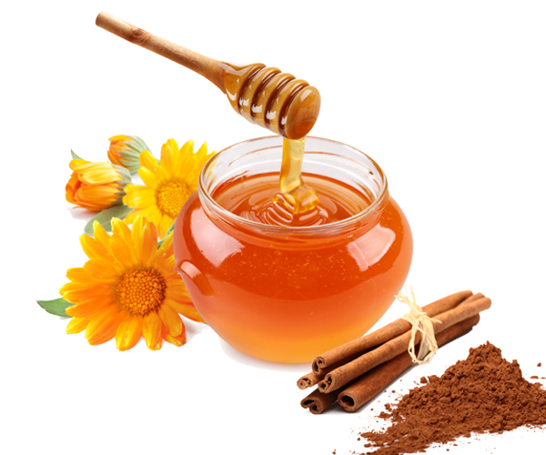 The uses of honey and cinnamon